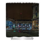 Night View Of Smithfield Market In North London Shower Curtain
