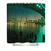 Night View Of St. Louis, Mo Shower Curtain
