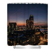 Night View Of The City Of London Shower Curtain