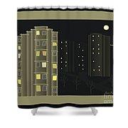 Night View - When I Smoke Shower Curtain