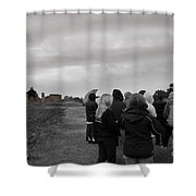 Night Vision Ghost Story In Bradgate Park. Shower Curtain