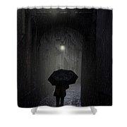 Night Walk In The Rain Shower Curtain