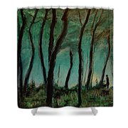 Night Walk Shower Curtain