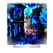 Night Walking In New Orleans Shower Curtain