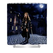 Night Warrior Shower Curtain