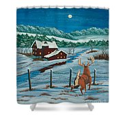 Night Watch Shower Curtain by Charlotte Blanchard