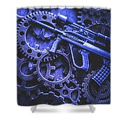 Night Watch Gears Shower Curtain