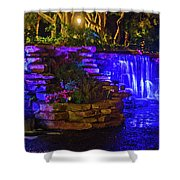 Night Water Fall  Shower Curtain