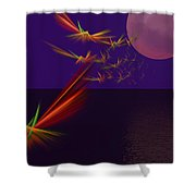 Night Wings Shower Curtain