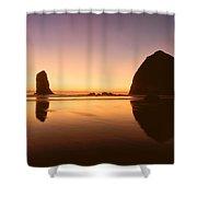 Nightfall At Cannon Beach Oregon Shower Curtain