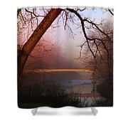 Nightfall At The River Shower Curtain
