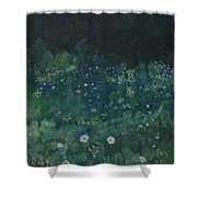 Nightfall In The Forest Shower Curtain