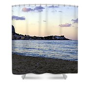 Nightfalls Over The Mediterranean Shower Curtain