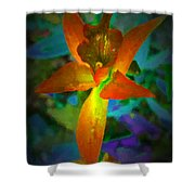 Nightgown Floral Shower Curtain