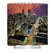 Nightlife On Robson Street Shower Curtain