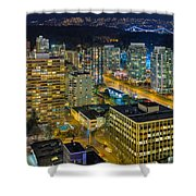 Nightlife On The Other End Of Robson Street Shower Curtain