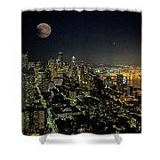 Nightlights Seattle Washington  Shower Curtain