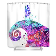nightmare before christmas print nightmare before christmas poster shower curtain