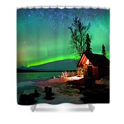 Nights Bliss Shower Curtain