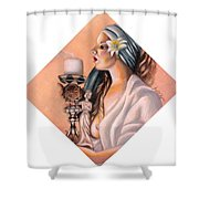 Nights Candle Shower Curtain