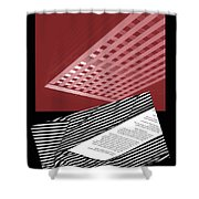 Striped Dreams Of Hubert Humphrey Shower Curtain