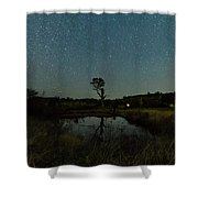 Nightscape And Dam Landscape Shower Curtain