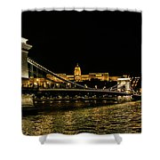 Nightscape On The Danube Shower Curtain
