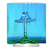 Nightshade Water Droplet Shower Curtain