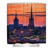 Nightsky Over Stockholm Shower Curtain