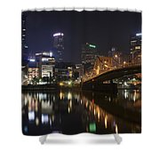 Nighttime In The City Shower Curtain