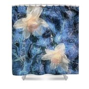 Nighttime Narcissus Shower Curtain