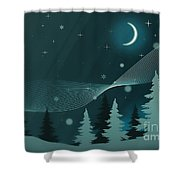 Nighttime Shower Curtain