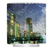 Tokyo River Shower Curtain