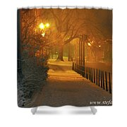 Nigthwalk  Shower Curtain