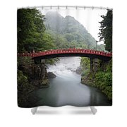 Nikko Shin-kyo Bridge Shower Curtain