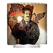 Nikola Tesla At Wardenclyffe Shower Curtain