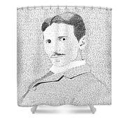 Nikola Tesla In His Own Words Shower Curtain