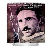 Nikola Tesla - Quote Shower Curtain