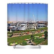 Nile Cruise Ships Aswan Shower Curtain