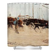 Nils Kreuger,   From The Dutch Coast. Shower Curtain