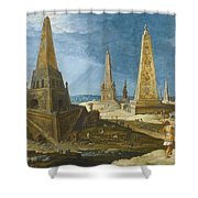 Nimrod Amongst The Monuments Shower Curtain