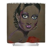 Nina Mae -- African-american Actress Portrait Shower Curtain