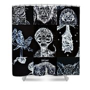 Nine Animals - Version 3 Shower Curtain