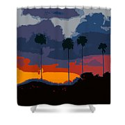 Nine Palms Shower Curtain