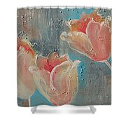 Nine Tulips Shower Curtain