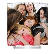 Nine Young Women Shower Curtain