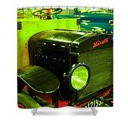 Nineteen Eighteen Maxwell Truck Shower Curtain