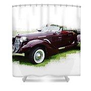 Nineteen Thirty-seven Auburn Speedster Shower Curtain