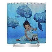 Ninia Del Mar Shower Curtain