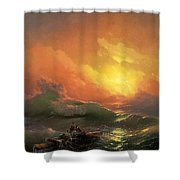 Ninth Wave Ivan Konstantinovich Aivazovsky Shower Curtain